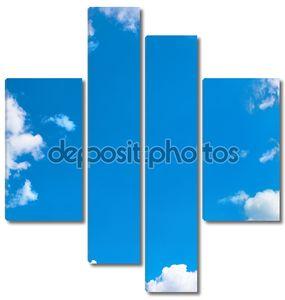 Небесный фон с обрамлением из облаков