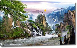 Горы и водопады