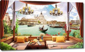 Невероятный вид из окна на Венецию