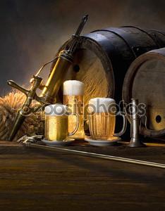 Натюрморт с пивом