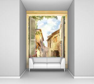 Фреска с видом из окна