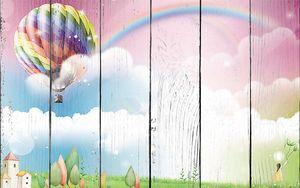 Радужный воздушный шар