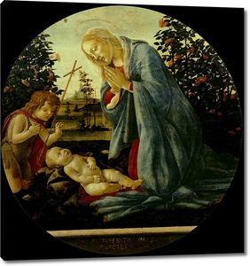 Боттичелли. Поклонение младенцу Христу