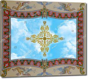 Небо украшенное узором крестом в центре