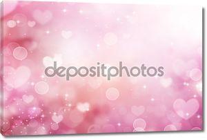 Валентина сердца абстрактный фон в розовых тонах. День Св.Валентина