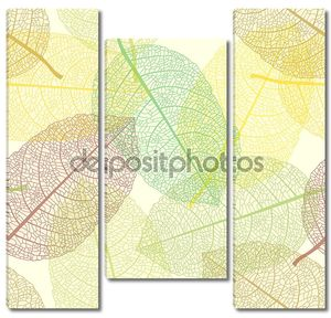 Бесшовно черепица осенью листья шаблон
