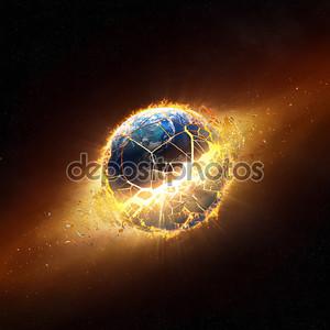 Планета взорваться с Жгучее пламя