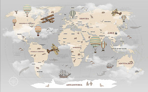 Карта мира для детей на русском языке