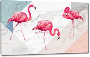 Фламинго на кафеле