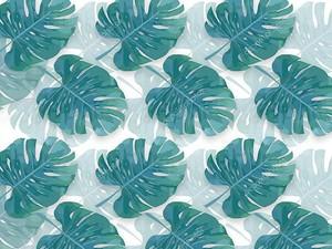 Зеленые тропические листья на белом фоне