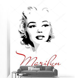 Marilyn Monroe (black and white portrait)