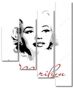 Marilyn Monroe (black and white portrait)