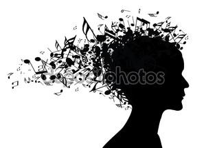 Музыка женщина портрет силуэт