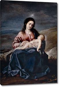 Кано Алонсо. Мадонна с младенцем