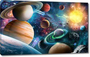 Мир цветных планет