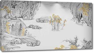Деревья по скалам