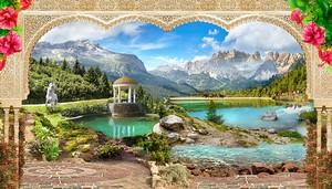 Вид с террасы на прекрасную природу