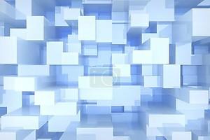 Фон синий кубов обьем