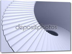 Абстрактный винтовая лестница