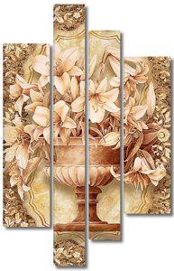 Лилии в античной вазе