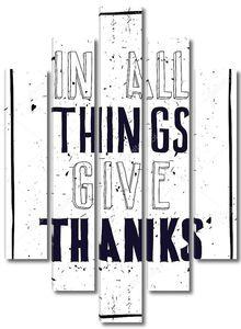 Гранж-постер. Во всех вещей дать спасибо