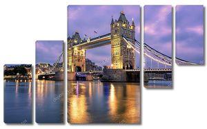 Тауэрский мост через реку Тэймс в Лондоне