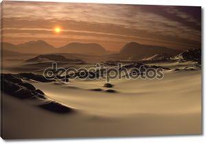 Фантастический пейзаж пустыни