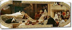 Климт Густав. Постановка пьесы Ромео и Джульетта в лондонском театре Глобус (фреска)