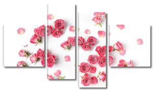 Отдельные бутончики роз с лепестками
