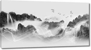 Туман в скальной нише