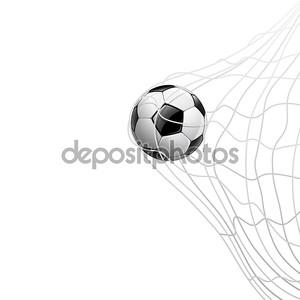 Футбольный мяч в сети. по воротам