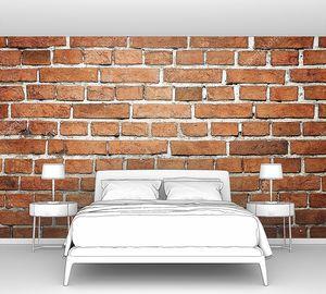 Гранжевая кирпичная стена со светлыми швами