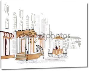 Уличное кафе в старом городе
