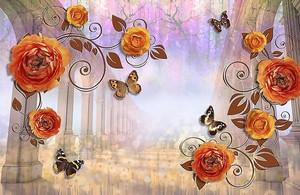 Колоннада с цветами