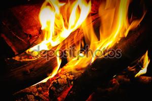 деревянный огонь