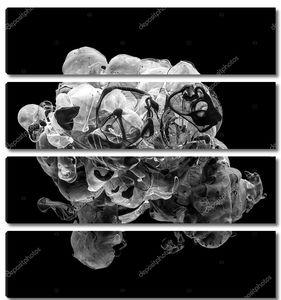 Абстрактный черный и белый акрил сучки