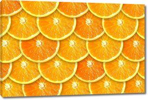Фон из сочных апельсиновых ломтиков