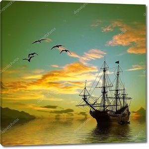 Старинный пиратский Корабль