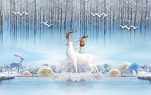 Девочка с белым оленем