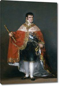 Гойя и Лусиентес. Фердинанд VII в своей королевской мантии