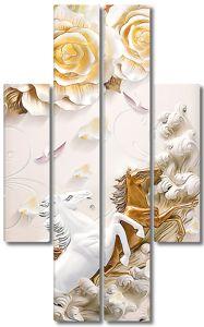 Золотой и белый кони