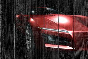 красный абстрактный спортивный автомобиль
