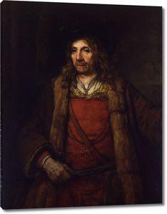 Рембрандт. Портрет мужчины в меховой шубе