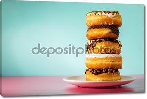 Стек разные пончики