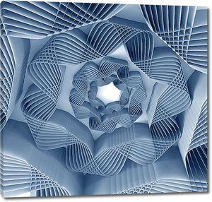 Абстракция из волнистых лент