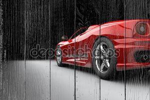 Красный спортивный авто