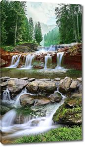Каменистая река в лесу