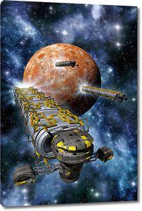 Грузовые космические корабли с планеты и туманности