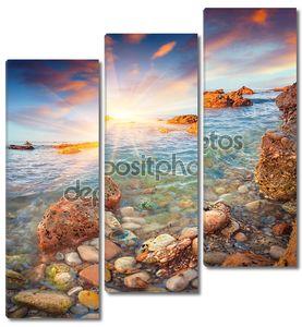 Восход солнца на Тирренском море