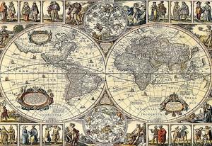 Карта на старой бумаге